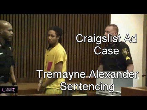 Tremayne Alexander Sentencing 03/21/17