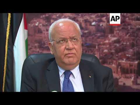 Erekat: US embassy kills the Middle East peace process