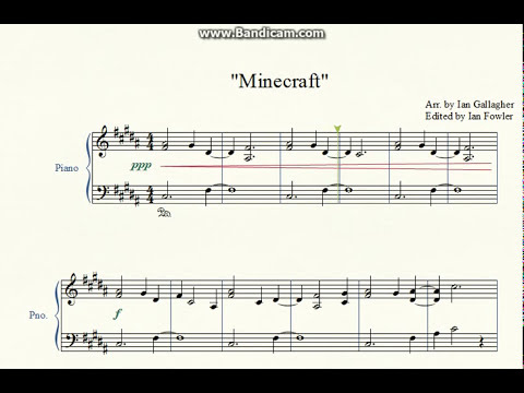 Minecraft (Piano arrangement w/ Sheet Music)