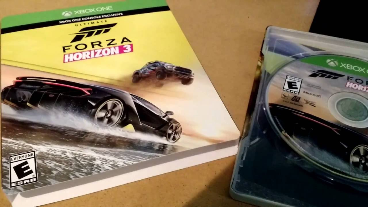unboxing forza horizon 3 ultimate edition youtube. Black Bedroom Furniture Sets. Home Design Ideas