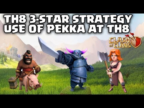 TH8 - LATEST 3 STAR ATTACK STRATEGY - PEKKA HOGS & PEKKA VALK - Clash of Clans - Ep 23