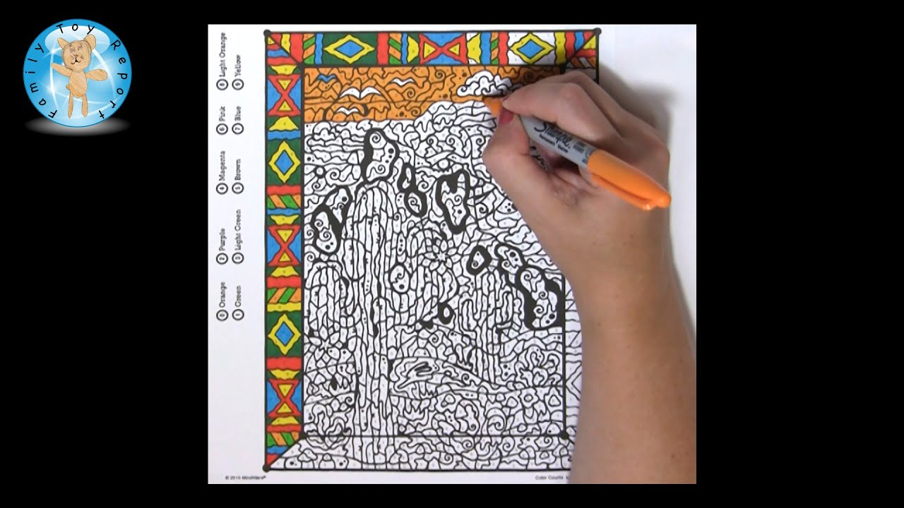 Mindware color counts landscapes coloring book sample page for Color counts coloring pages
