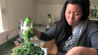Sous Vide Kale Soup With Crispy Chickpeas