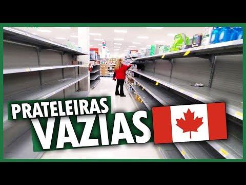 SUPERMERCADO NO CANADÁ DURANTE O CORONAVÍRUS COVID-19 - Vlog Ep.128