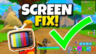 HOW TO FIX ZOOMED SCREEN IN FORTNITE! - SCREEN FIX FOR PS4 AND XBOX!