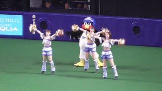 20180707 つば九郎先生,チアドラの選手送り出しダンスに加わるも途中でバテる! thumbnail