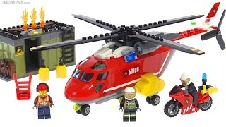 LEGO City 2016 Fire Response Unit + helicopter review! set 60108
