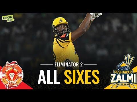 PSL 2019 Eliminator 2: Islamabad United vs Peshawar Zalmi | PEL All Sixes