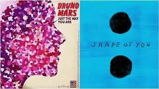 Just The Shape Of You (Flipped Version) - Bruno Mars vs Ed Sheeran (Mashup)