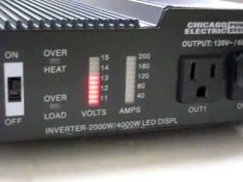 HARBOR FREIGHT 2000/4000 WATT INVERTER TEST - YouTube