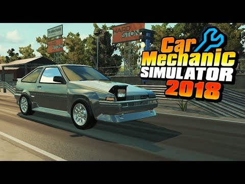 Toyota Sprinter Trueno AE86 Drift | Custom Body Kits + Drag Race | Car Mechanic Simulator 2018