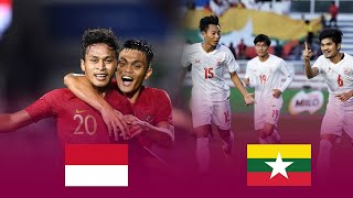 Bán kết U22 Indonesia Vs U22 Myanmar | SEA Games 2019