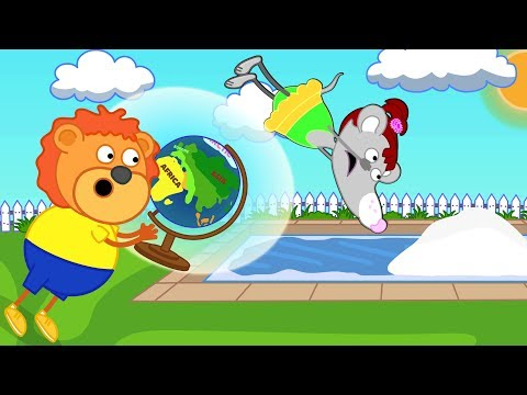 Lion Family Magical Globe Cartoon For Kids