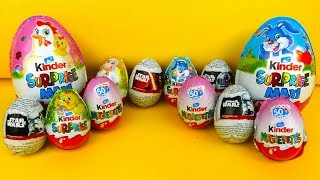 Kinder Surprise Eggs Maxi Star Wars Yoda Figures Easter Special Eggs Giant Bee