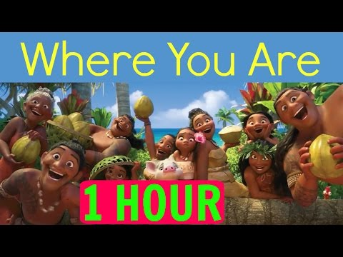 [1 HOUR][LYRICS] Where You Are (Moana soundtrack) Loop