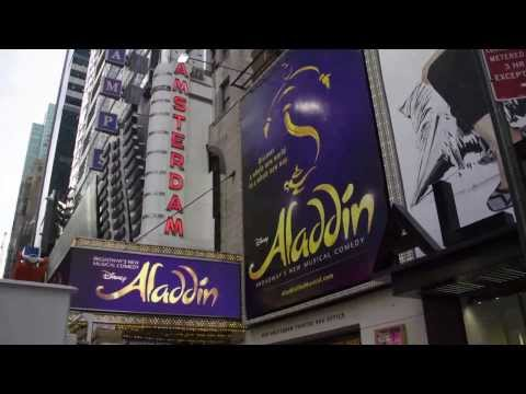 ALADDIN on Broadway - Lights Up on the Marquee