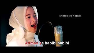 Karaoke ahmad ya habibi Nisa sabyan