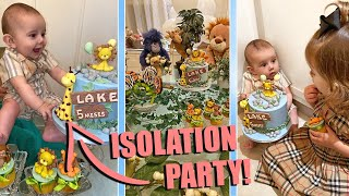 THROWING A PARTY TO OUR BABY WHILST IN ISOLATION WITH OUR FAMILY!