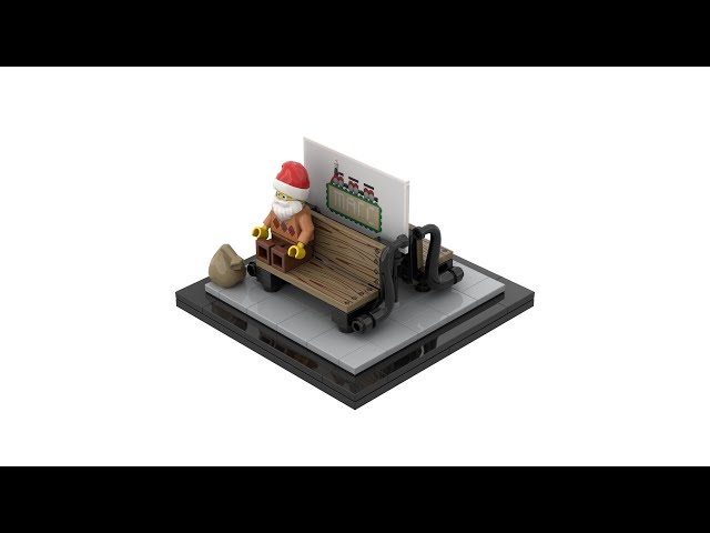 LEGO® Bench with Billboard at Railway Stations with Instructions