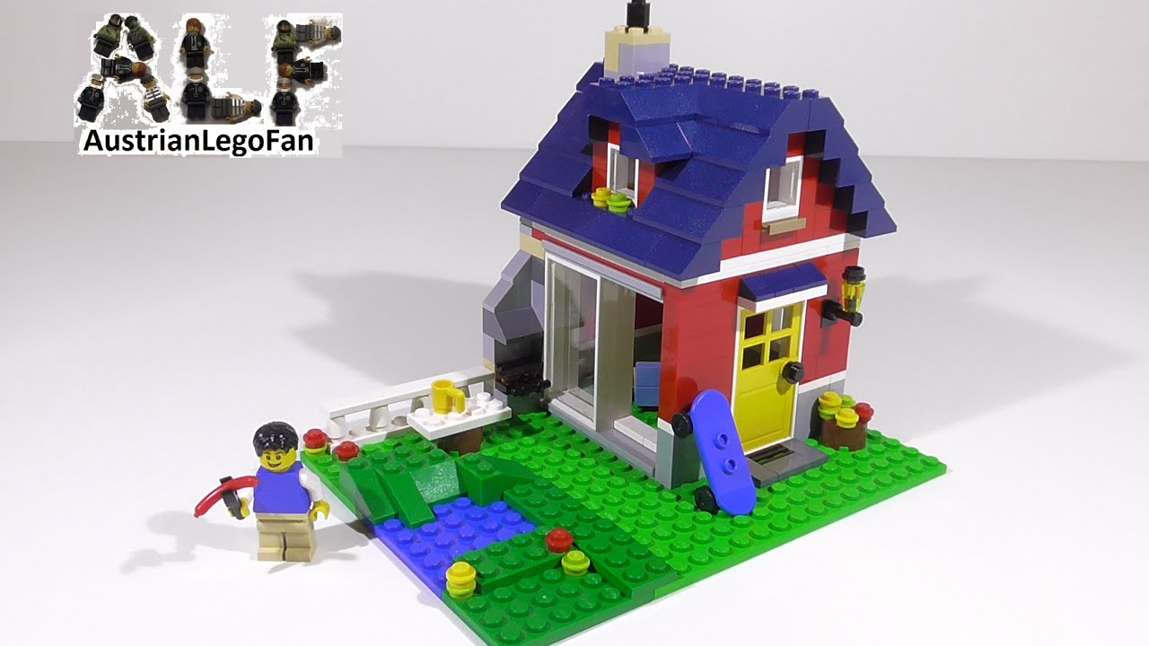 how to build a lego house small