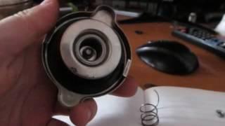 переделка крышки  радиатора под расширительный бачок.