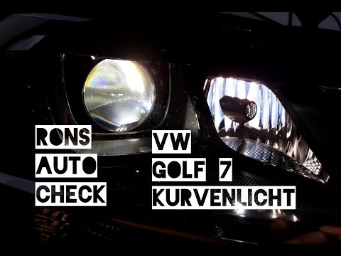 VW Golf 7 H7 Lampen in Bi Xenon Scheinwerfer wechseln Abbiegelicht Kurvenlicht Anleitung Licht