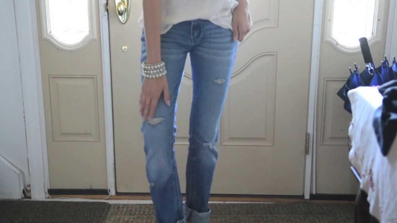 DIY Boyfriend Jeans (Easy and Inexpensive) - YouTube
