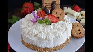 Tarta de chocolate blanco sin horno/ POSTRES FÁCILES