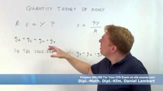 cfa economics quantity theory of money cfa-course.com