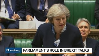 U.K. PM Theresa May Promises to Give Parliament a Say on Brexit