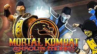 Scorpion & Sub-Zero Play - MORTAL KOMBAT: Shaolin Monks (Part 2) | MKX GAMEPLAY PARODY!