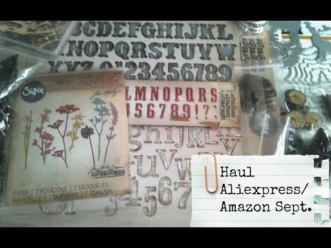 HAUL ALIEXPRESS - AMAZON SEPT.