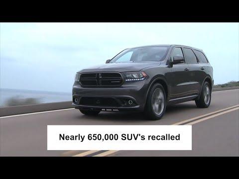 Fiat Chrysler recalls nearly 650,000 SUVs