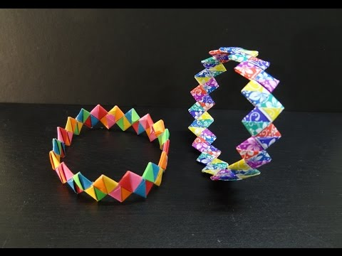 Paper Crafts: How to make a DIY Paper Wristband   Friendship Band Bracelet