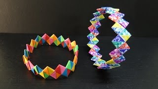 Paper Crafts: How to make a DIY Paper Wristband | Friendship Band Bracelet