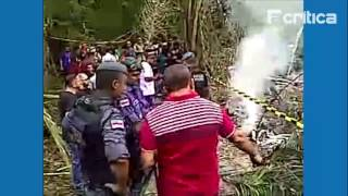 Aeronave de pequeno porte cai em Manaus