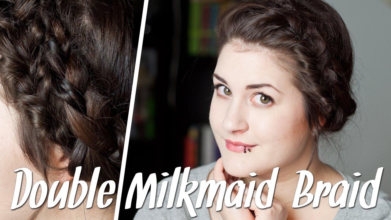 Frisuren Für Dünne Haare Double Milkmaid Braid Flechtfrisur