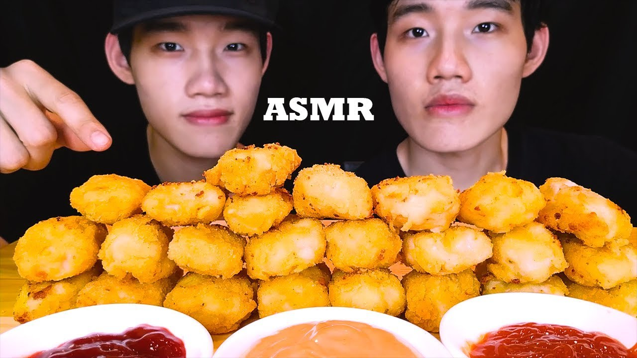 Asmr Chicken Nuggets Mukbang Eating Sounds Recipe No Talking Tantan Twins Asmr