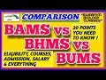 BAMS vs BHMS vs BUMS 2019. WHICH ONE IS BETTER-AYURVEDA, HOMEOPATHY & UNANI COURSES with 20 POINTS.