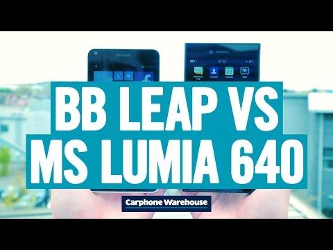 Microsoft Lumia 640 vs BlackBerry Leap