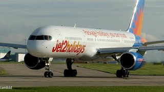 8 Very Close Takeoffs & Landings: 777, A380, 787, 747, A330, 767, 757 Manchester Airport