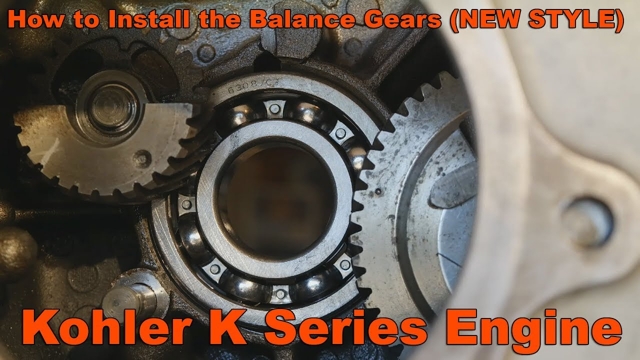 How To Install Balance Gears In Your Kohler K Series Engines Youtube K361 Wiring Diagram