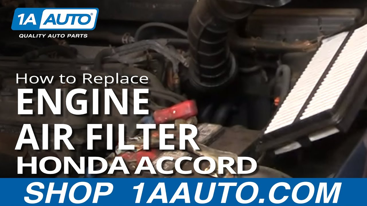 how to install repair replace engine air filter cleaner honda honda accord 3.0 2001 fuel filter location 2000 Honda Accord Fuel System 2001 honda accord fuel filter location