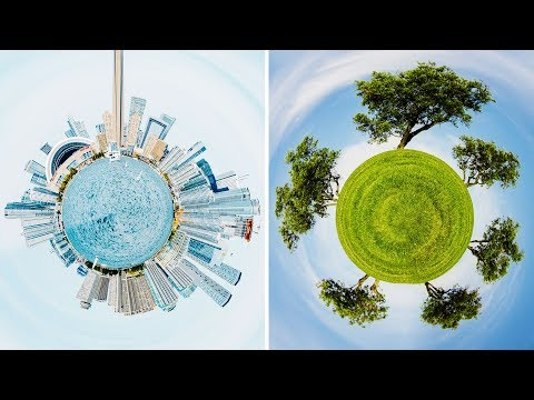 3D 360 Tiny Planet Photo Effect - Photoshop Manipulation Tutorial