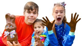 Nastya Artem y Mia   una historia para hijos sobre las manos de chocolate