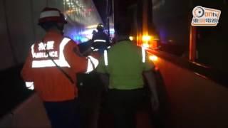 大欖隧道巴士相撞釀20傷 出九龍勁塞2小時