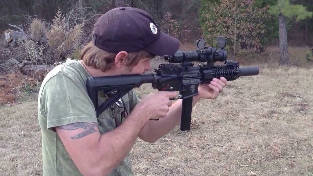 Spikes Tactical 9mm Suppressed Sbr Ar 15 Youtube