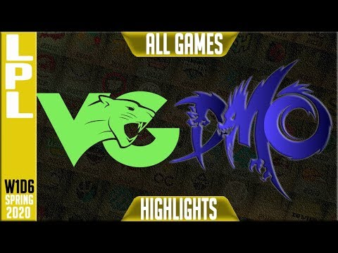VG Vs DMO Highlights ALL GAMES | LPL Spring 2020 W1D7 | Vici Gaming Vs Dominus Esports