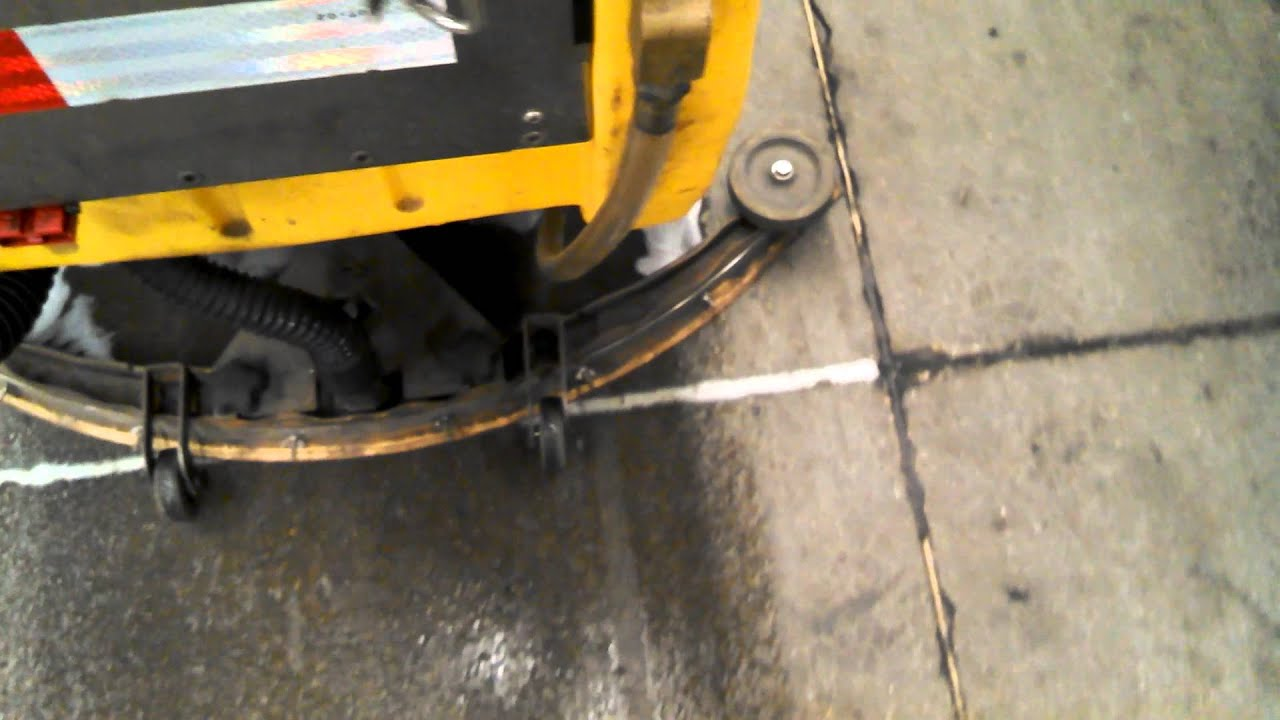 tomcat 2600 walk-behind floor scrubber operation - youtube