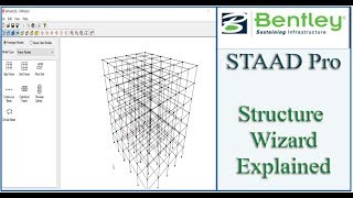 STAAD Pro Tutorial For Beginners [Episode 5]: Using Structure Wizard